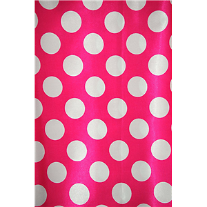 Polka Dot Charmeuse Satin FUCHSIA WHITE SP-105