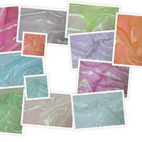 SWATCHES Irridescent Crinkled Barbie Organza