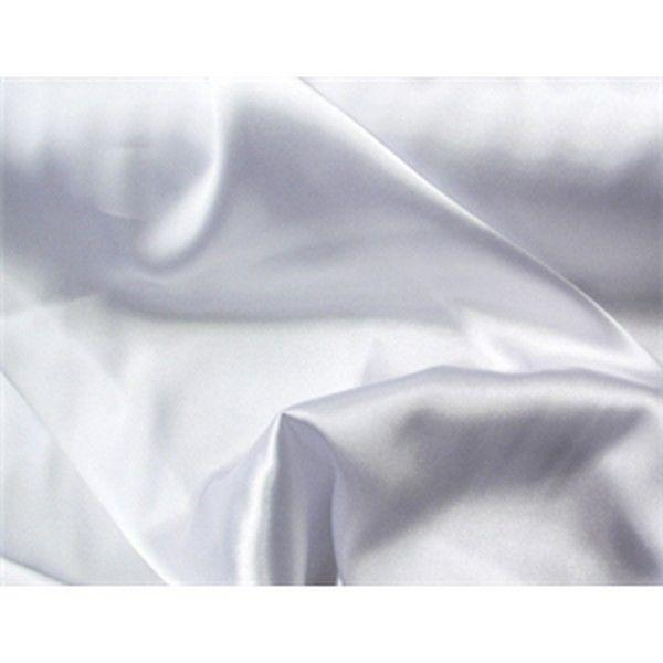 Charmeuse Silky Satin 58 Inch Width WHITE