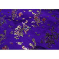 Chinese Satin Dragon/Phoenix Brocade Dark Purple Dye Lot 2