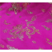 Chinese Satin Dragon/Phoenix Brocade Fuchsia