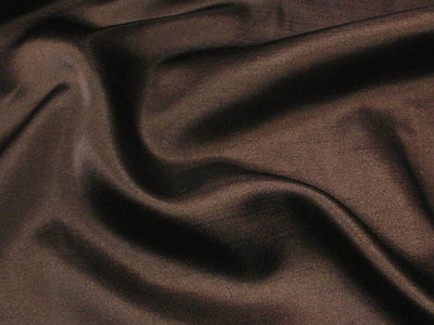 Shantung Satin DARK BROWN STS-14