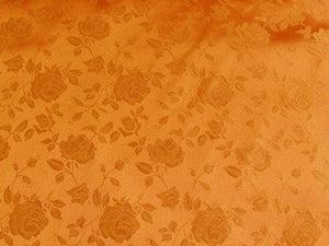 Floral Satin Brocade Orange
