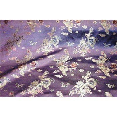 Chinese Satin Dragon/Phoenix Brocade Purple
