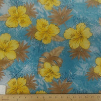 Koshibo Prints Blue Yellow Hibiscus KO-8