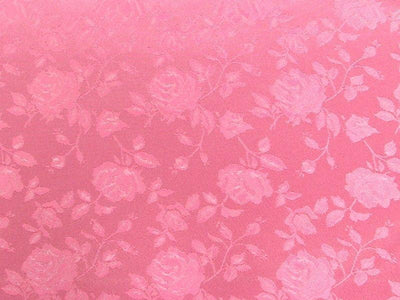 Floral Satin Brocade Dusty Rose