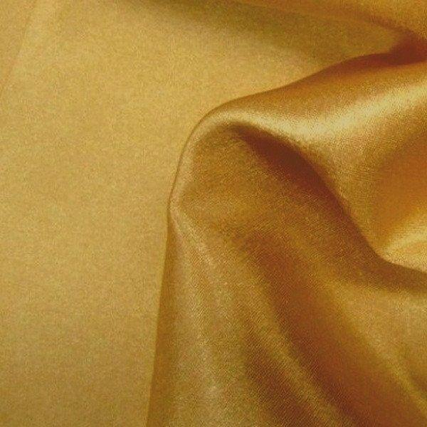 "China Faux Silk Habotai 58"" Wide Dark Gold HB-18"