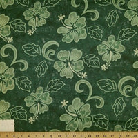 SWATCHES Green/Teal Hawaiian Floral Prints