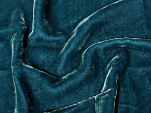 "Plush Silk Velvet 54"" Wide OCEAN"