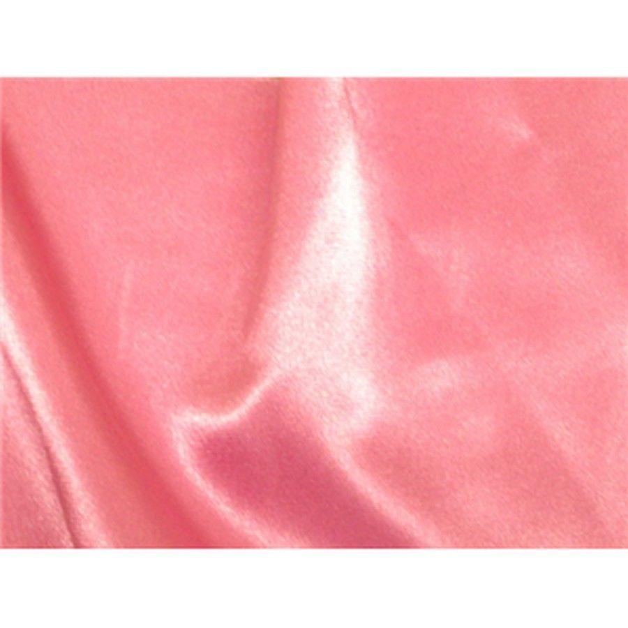 Stretch Charmeuse Satin Candy Pink
