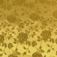 "Rose Satin Brocade Jacquard Fabric 60"" Wide. CHOOSE FROM OVER 30 COLORS"