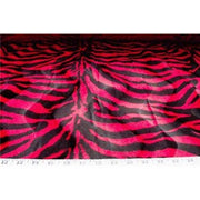 Velboa Large Hot Pink Red Zebra Prints