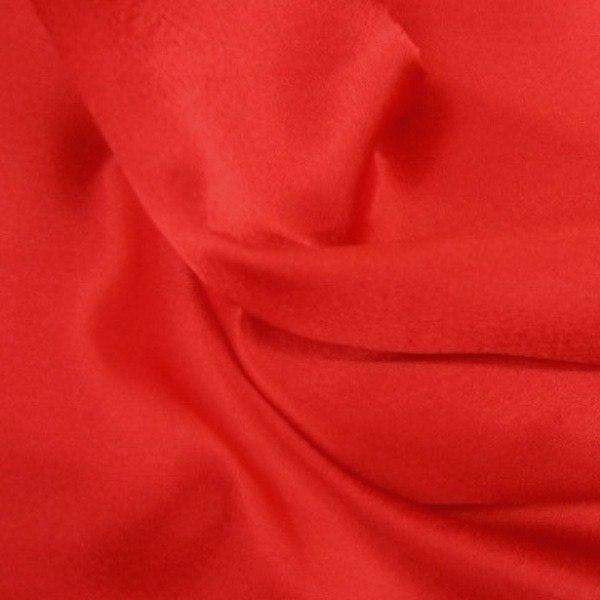 "China Faux Silk Habotai 58"" Wide Red HB-3"
