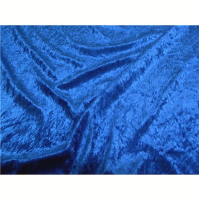 Crushed Panne Velour Velvet Royal Blue