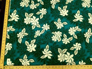 "TEAL FLORAL HP-6 ""LAST PIECE MEASURES 33 INCHES"""