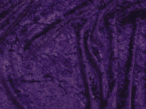 Crushed Panne Velour Velvet Dark Purple