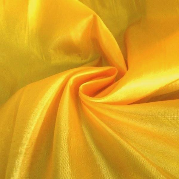 "China Faux Silk Habotai 58"" Wide Yellow HB-20"