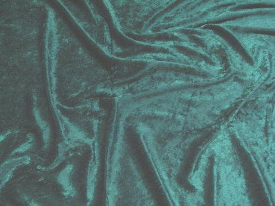 Crushed Panne Velour Velvet Teal