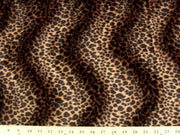 Velboa Animal Skins Fur Chocolate Brown Cheetah Leopard