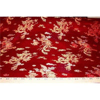 Chinese Satin Dragon/Phoenix Brocade Red