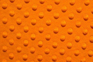 Minky Dimple Dot Fur ORANGE