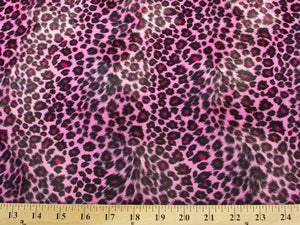 Velboa Animal Skins Fur Pink Cheetah Leopard