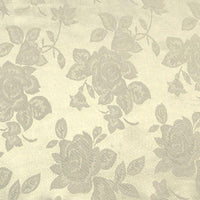 Floral Satin Brocade Medium Rose Ivory