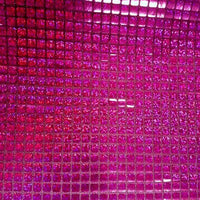 Hologram Square Sequins FUCHSIA HS-3