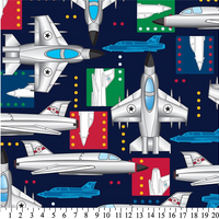 Anti-Pill Jet Airplanes Fleece 633