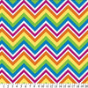 Anti-Pill Rainbow Chevron Fleece 636