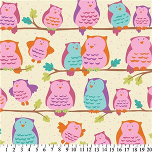 Premium Anti-Pill Owls On Perch Fleece 664