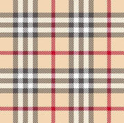 Premium Anti-Pill Kingston Plaid Cream Red Fleece 708