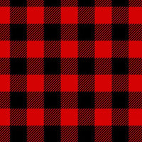 Premium Anti-Pill Buffalo Plaid Red Black Fleece 709