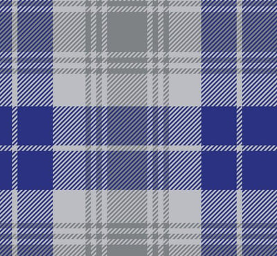 Premium Anti-Pill Tartan Plaid Silver Blue Fleece 715