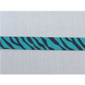 Zebra Grosgrain Ribbon 7/8