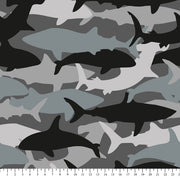 Premium Anti-Pill Shark Camo Fleece 731