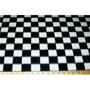 Checkered Fleece Black White