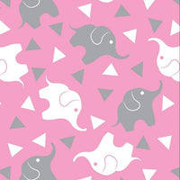 Premium Anti-Pill Elephant Confetti Pink Grey Fleece 753