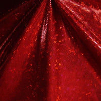 Metallic Hologram Foil Spandex RED