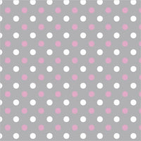 Premium Anti-Pill Simply Dots Pink Grey Fleece 754