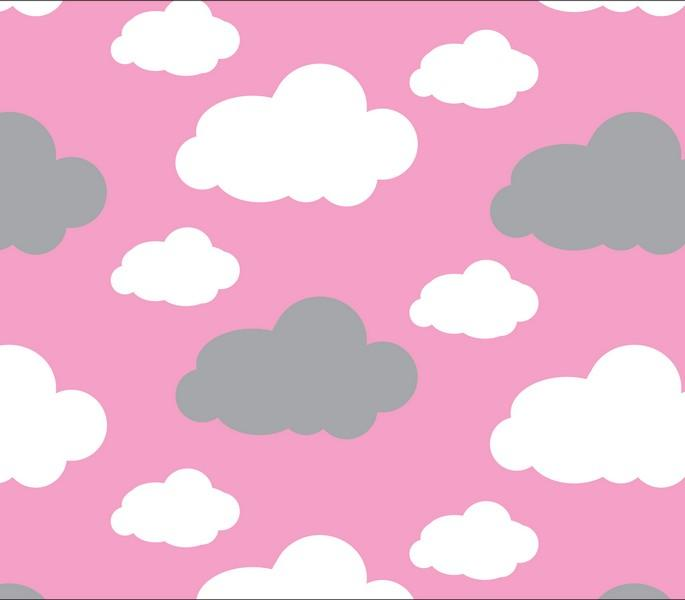 Premium Anti-Pill Dreamy Clouds Pink Fleece 757