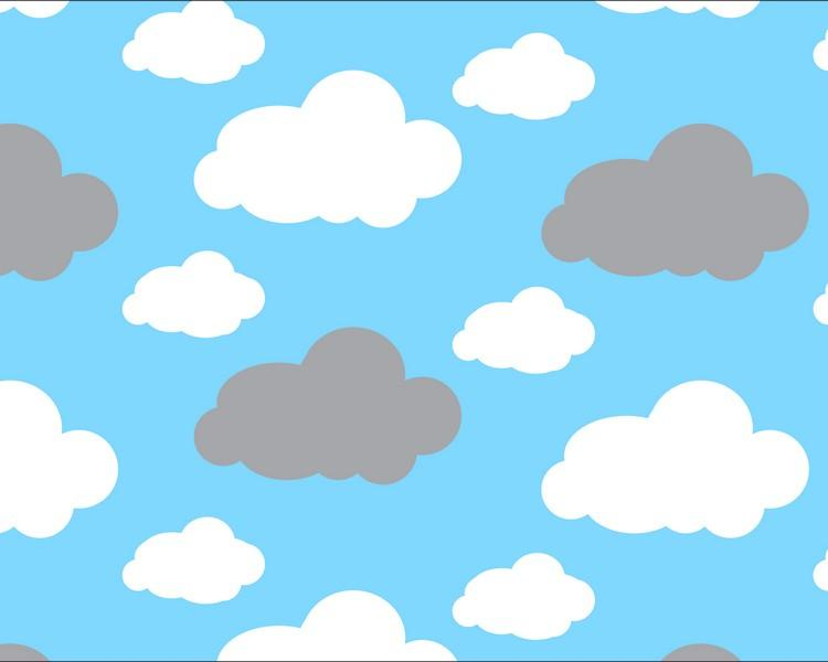 Premium Anti-Pill Dreamy Clouds Blue Fleece 763