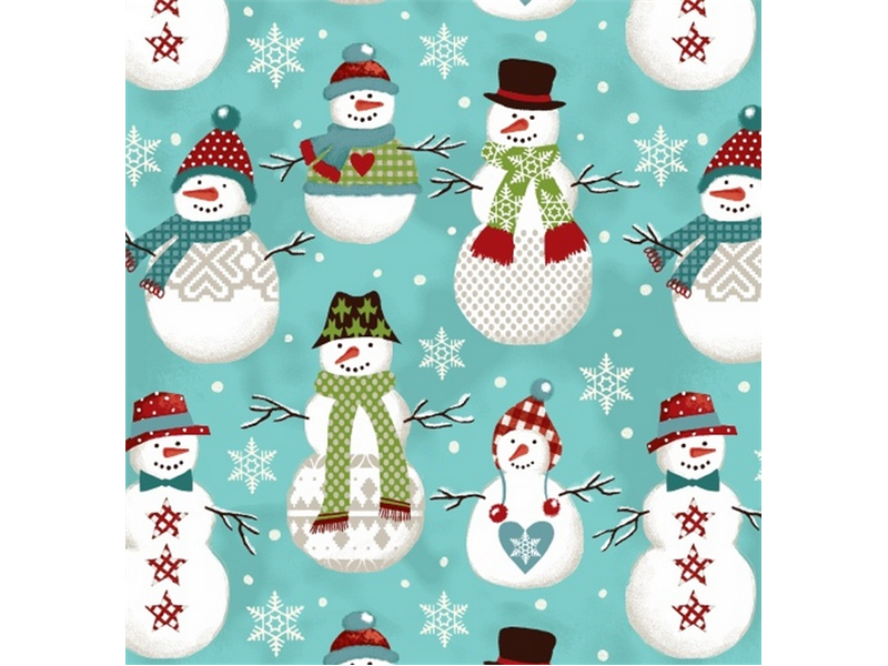 Premium Anti-Pill Folk Snowmen Fleece 781