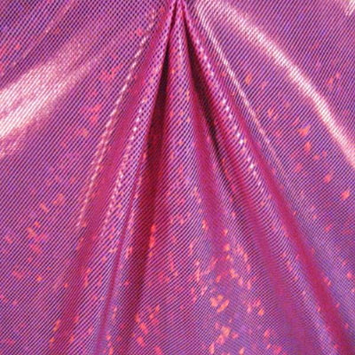 Metallic Hologram Foil Spandex HOT PINK