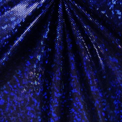 Metallic Hologram Foil Spandex ROYAL BLUE