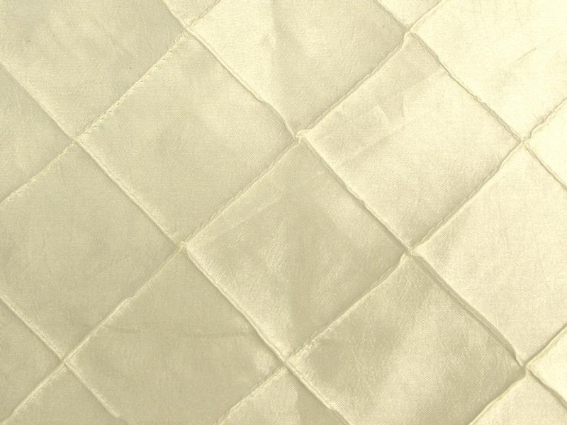 Taffeta Diamond Pintuck IVORY 2""