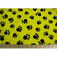 Paw Prints Yellow Fleece