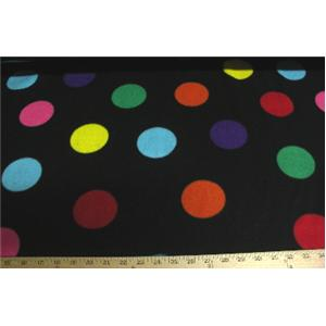 Polka Dots Black Fleece