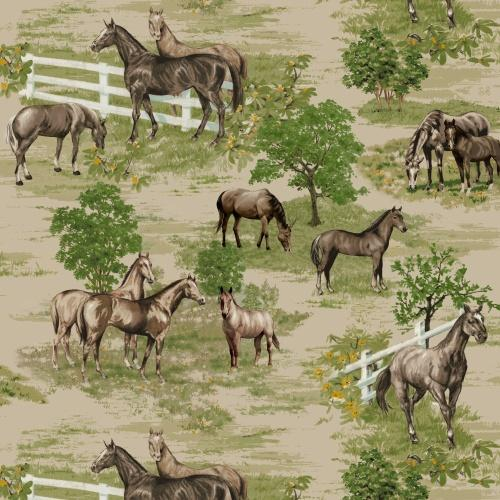 Premium Anti-Pill Horse Farm Fleece A15