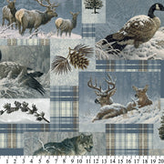 Premium Anti-Pill Larry Fanning Winter Animal Patchwork Fleece 452